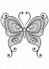 Coloring Butterfly Papillon Colorare Coloriage Disegni Adulti Farfalle Insetti Colorear Papillons Motifs Insectos Kupu Insectes Mandala Coloriages Insects Patterns Gambar sketch template