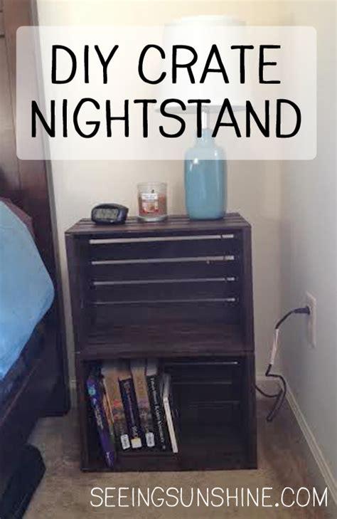 Crate Nightstand Diy by Diy Crate Nightstand Seeing
