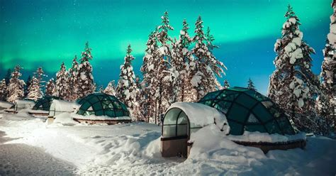 hotels to see northern lights see the northern lights from a glass igloo at