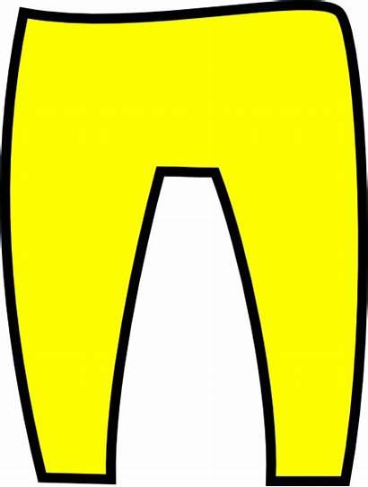 Pants Trousers Clipart Clip Yellow Pant Orange