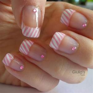 Easy French Nail Designs Pictures and Tutorials u2013 Inspiring Nail Art Designs u0026 Ideas