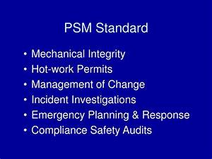 Ppt - Process Safety Management Of Highly Hazardous Chemicals Powerpoint Presentation