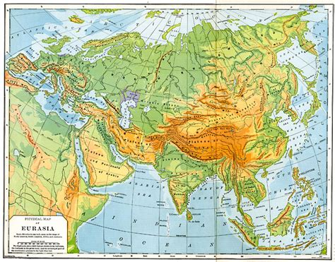 physical map  eurasia