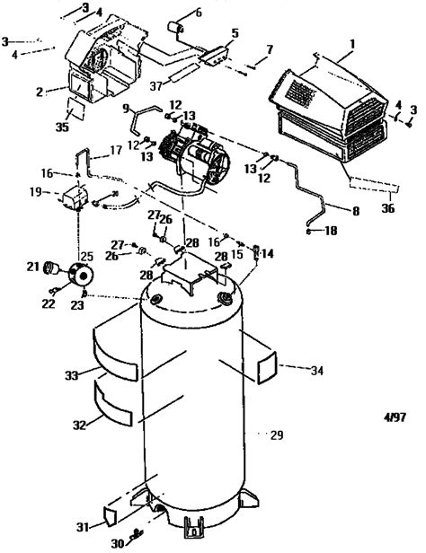 sears craftsman 919 166600 air compressor parts