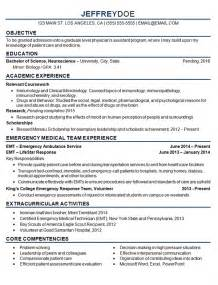 resume exles for objectives for students medical student resume exle sle