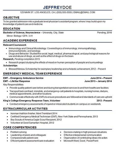 clinical resumes medical student resume example sample