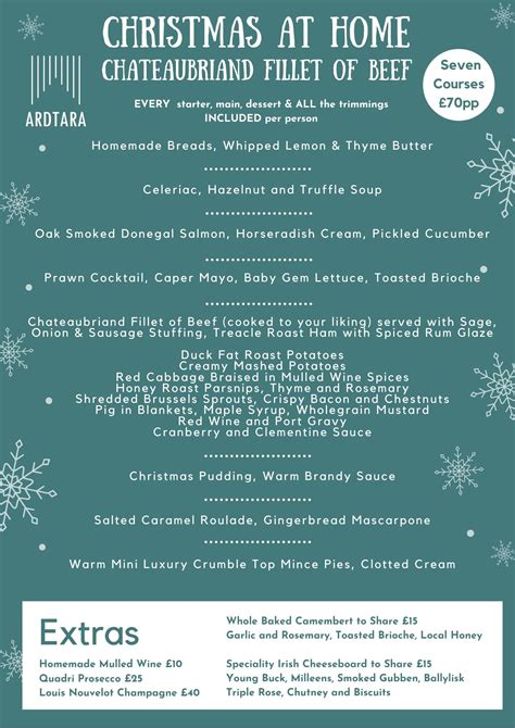 Serve up a spread of hearty fare this holiday season. Best Place to Eat Northern Ireland | Ardtara Country House