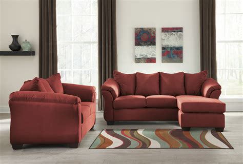 Loveseat Upholstery by Majik Darcy Salsa Sofa Chaise And Loveseat Rent To Own