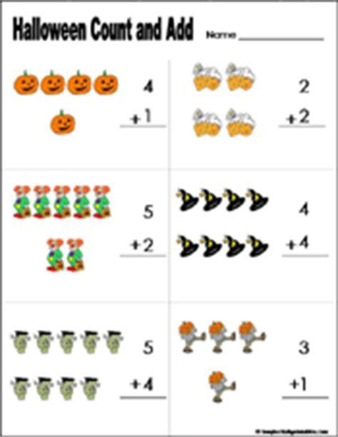 preschool  kindergarten halloween math worksheets