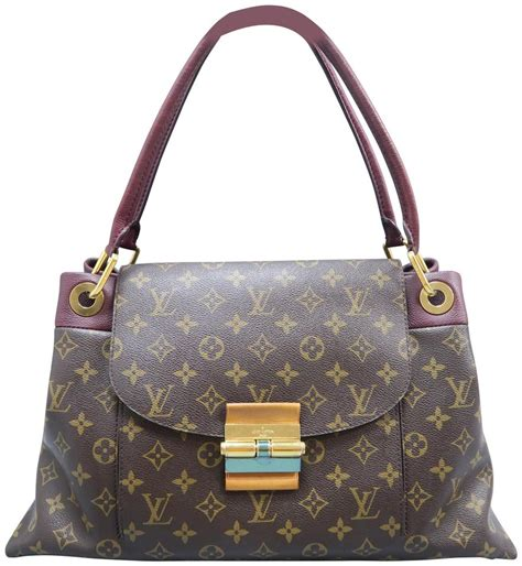louis vuitton olympe monogram mm brown canvas shoulder bag