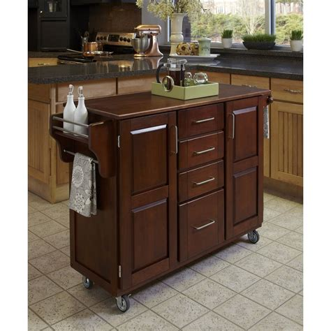 kitchen island cart with granite top cherry oak create a cart 9393