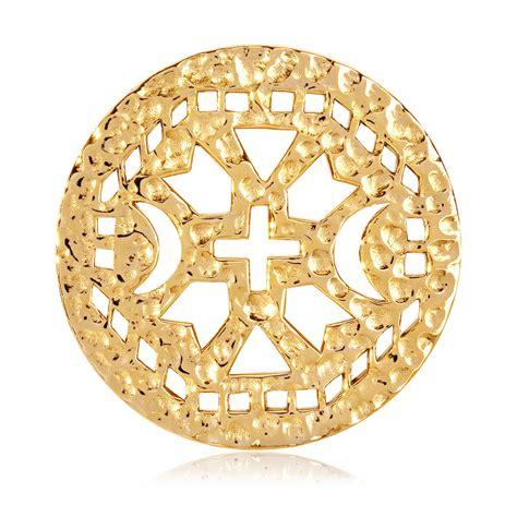 Nikki Lissoni Yellow Gold Ancient Cross Coin Insert