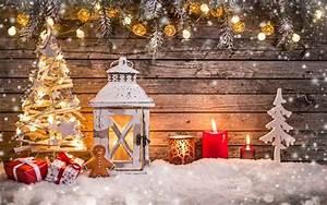 Lanterne De Noel : d coration de no l lanterne bougies lumi res arbre neige planche de bois fonds d 39 cran ~ Teatrodelosmanantiales.com Idées de Décoration
