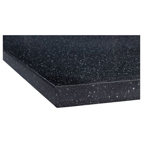 plan de travail paillete s 196 ljan worktop black mineral effect 186x3 8 cm ikea