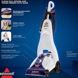 Bissell Cleanview Power Brush Carpet Cleaner  Blue