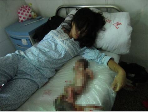 china suspends officials  forced  month pregnant woman