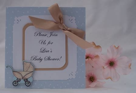 create baby shower invitations  examples  handmade cards