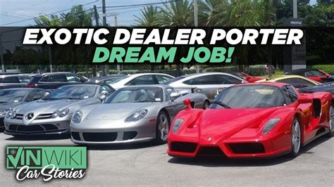 How Fun Is Being A Porter At An Exotic Car Dealership