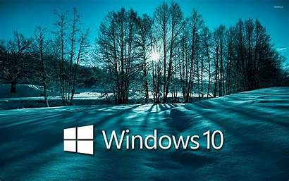 Windows Trees Snowy Text Wallpapers Computers Winter
