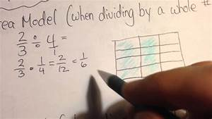 Dividing Fractions Using An Area Model Example 1