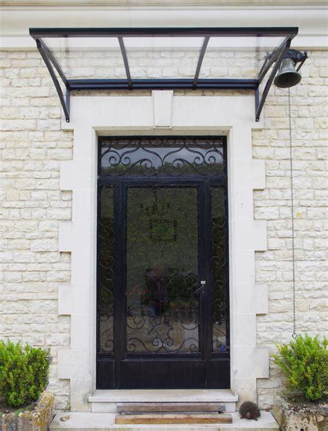 porte d entr 233 e contemporaine rehauss 233 e d une marquise moderne crealu design basileek