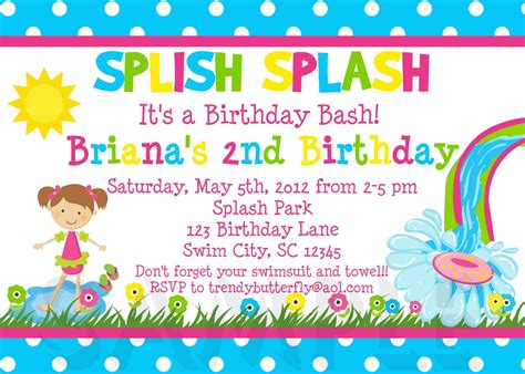 birthday party invitation letter  kids letters