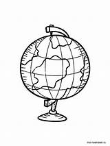 Globe Coloring Mycoloring Printable sketch template