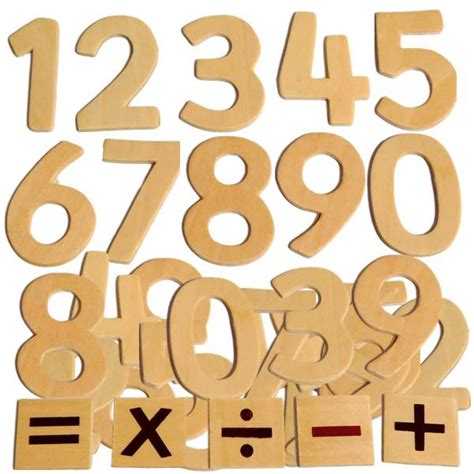educational wooden numbers kids craft math counting