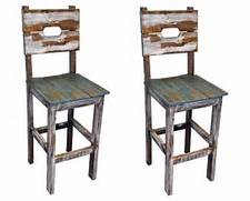 Should Your Bar Stools Match Your Dining Chairs by QTY 2 30 Slatted Wood Bar Stools Real Wood Rustic Western Cabin Lodge