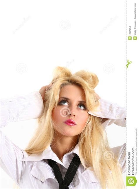 Portrait Of A Fresh And Beautiful Young Model Stock Image