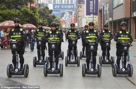 It's The Segway Section! Chinese Cops On Patrol For