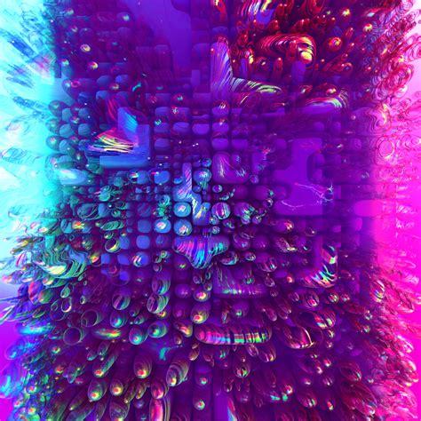 wallpaper bubbles colorful  purple pink rainbow hd
