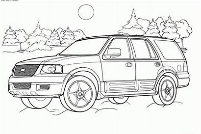 Coloring Pages Suv Sports Rocks Cars Police