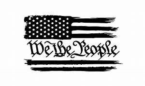 Distressed American Flag We The People Constitution USA