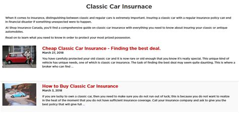 Insurance pays for many things including personal injury and damage to vehicles for victims of car accidents. You need to have the right requirements for Classic Car Insurance