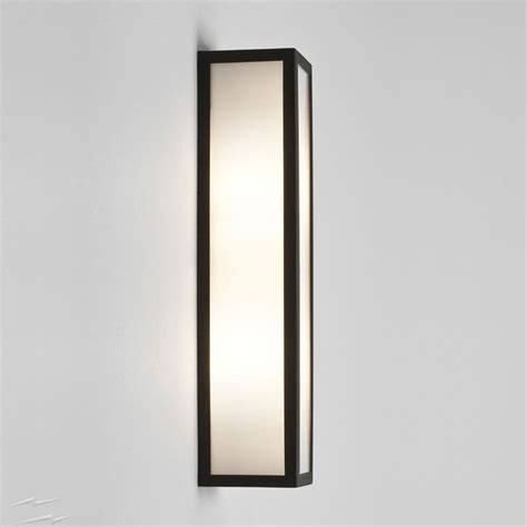 salerno textured black outdoor wall light with white opal diffuser ip44 2 e14 max 40w astro