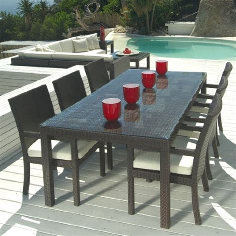 outdoor wicker patio furniture new resin 7 pc dining table