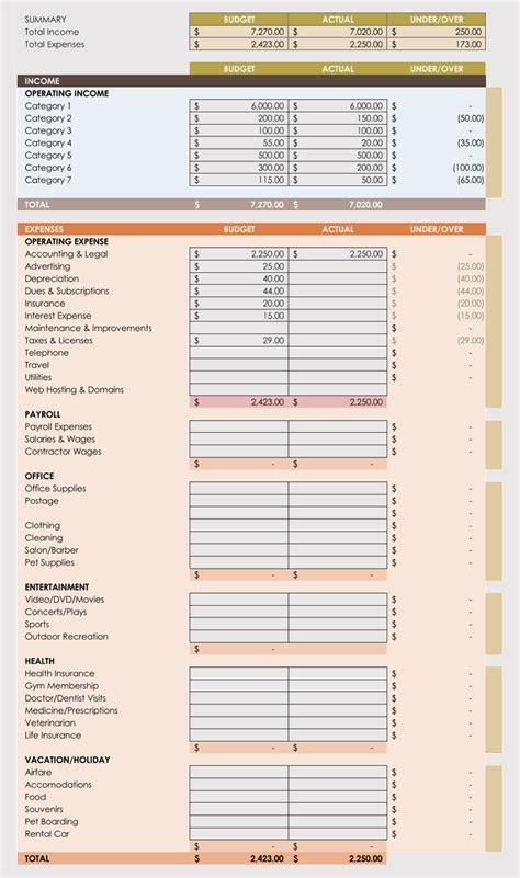 expense record tracking sheet templates weekly monthly