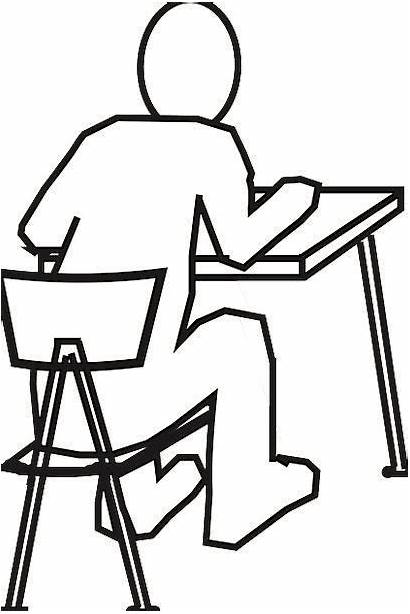 Desk Chair Drawing Reading Sitting Studying Counter