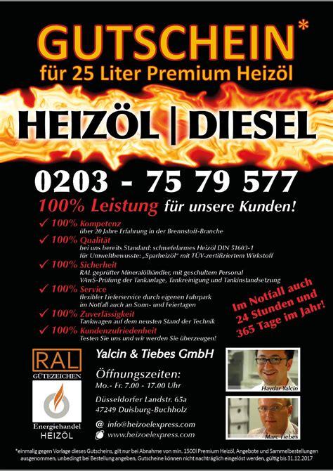 heizöl bestellen ratenzahlung yalcin tiebes gmbh heiz 246 l gutschein
