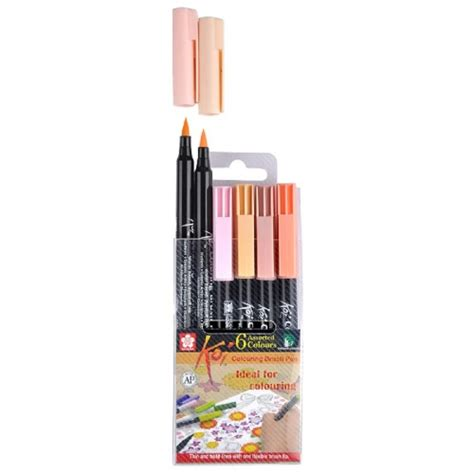 Coloring With Brush Pen by Koi Coloring Brush Pen Set Of 6 Colours