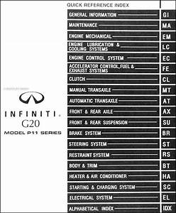 1999 Infiniti G20 Repair Shop Manual Original