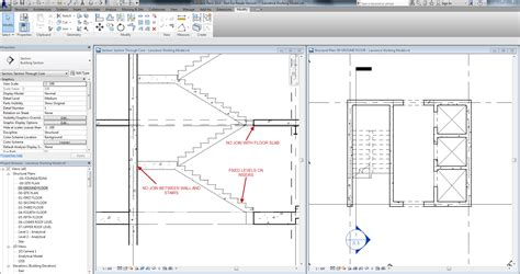 plan  elevation  stairs autodesk revit structure