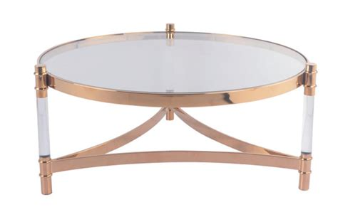 Create an ambience of modern elegance with the kate coffee table. Rose Gold Concise Style Round Coffee Table - Filo Furniture