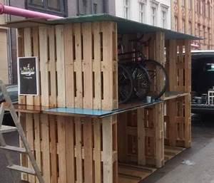 Fahrradgarage 4 Fahrräder : fahrradgarage aus europaletten radspannerei ~ Buech-reservation.com Haus und Dekorationen