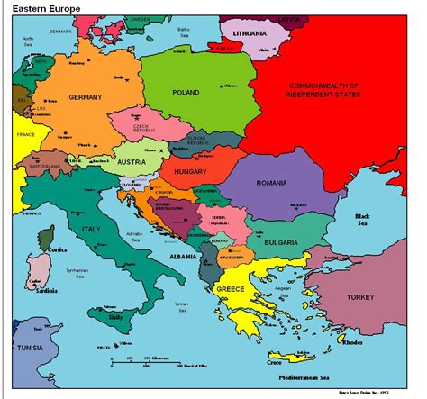eastern europe political map vacations  eastern europe