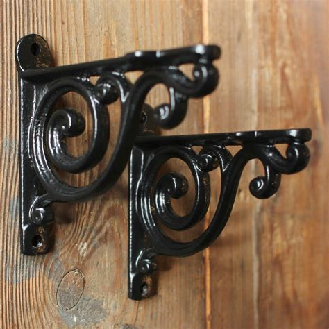 Black Corbels by Pair Of Black 4 Quot Small Antique Vintage Cast Iron