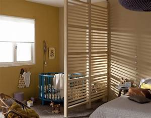 Separation Salon Chambre : coin b b dans la chambre des parents ~ Zukunftsfamilie.com Idées de Décoration