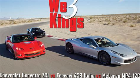 Mclaren Mp4 12c Vs 458 by California T Vs Corvette 2017 Ototrends Net