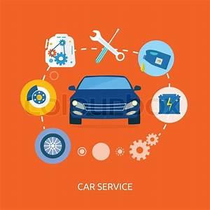 Contact Auto : auto mechanic service flat icons of maintenance car repair auto service concept car service ~ Gottalentnigeria.com Avis de Voitures
